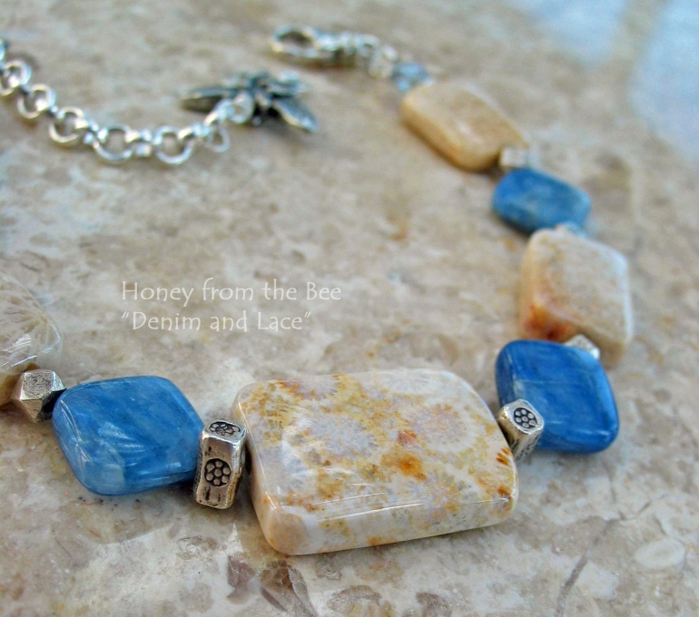 denim_and_lace_-_fossilized_coral_agate_and_kyanite_bracelet.jpg