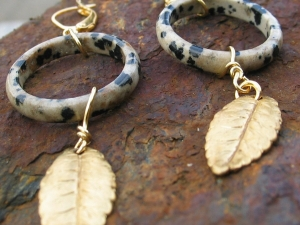 Roman Inspired Earrings with laurel leaves