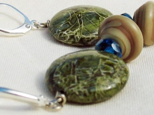 Moss Green Artisan Earrings