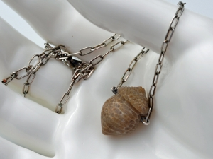Coral Acorn Necklace