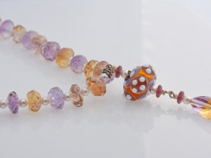 Pearl and Ametrine Statement Necklace