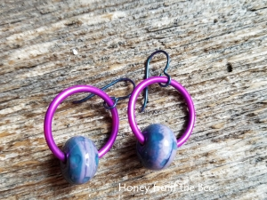 Berry Hoop Earrings