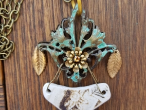 Broken Pieces Mixed Media Pendant