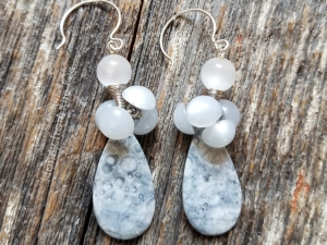 Grey Artisan Earrings
