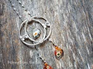 Orange Butterfly Wing Necklace