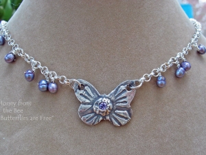 Butterflies are Free necklace