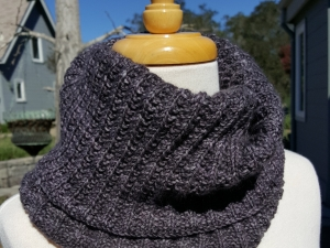 Grey Cashmere Cowl