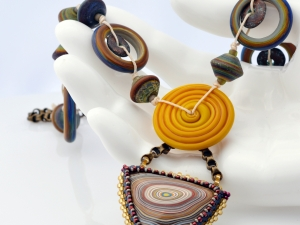 Circle of Life - Fordite Necklace