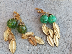 Crepuscular Rays - leaf earrings