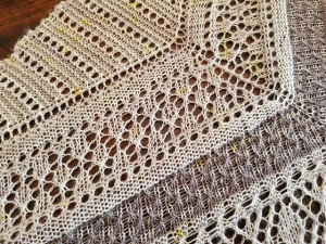 Daisies in the Fog Lace shawl