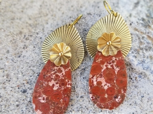Darcy - Bird's Eye Jasper earrings