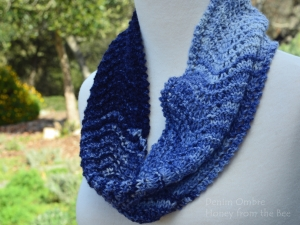 Denim Blue Lace Cowl
