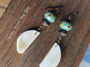 Teal Dangle Earrings