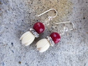 Garden Party - Ruby earrings
