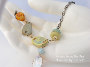 Gardens by the Sea Art Necklace
