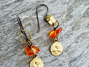 Honey from the Bee earrings