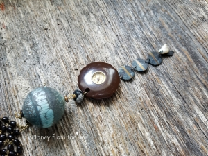 Aqua and Brown Pendant