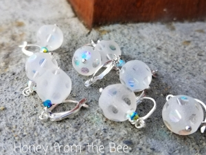 Icy Snowball Earrings