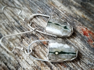 Nature inspired artisan earrings