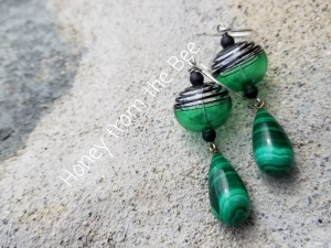 Malachite Artisan Earrings
