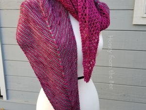 Magenta and Grey Shawl