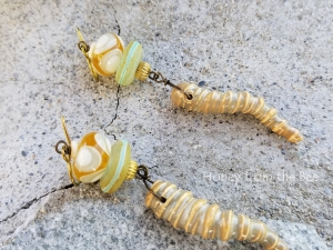 Maldives beach earrings