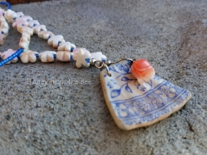 Blue and White Pottery Shard necklace