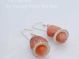 Jasper and Peach Moonstone Earrings