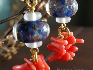 Pacific Coral Earrings