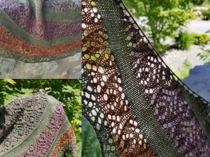 Peek-a-Boo Lace shawl