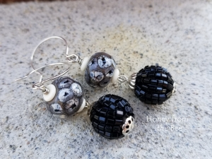 Black and White Boho earrings