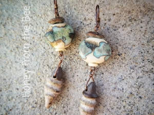 Puddles - Lampwork Artisan Earrings