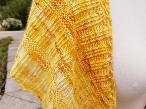 Golden Yellow Shawl