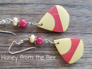 Rose and Cream Earrings