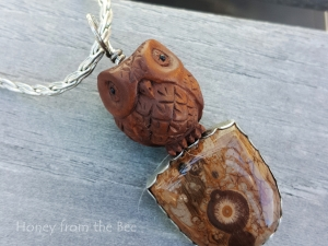 Carved Owl Pendant