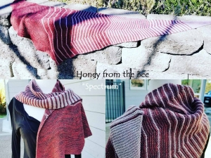 Spectrum Shawl in Red and Grey