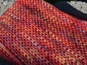 Spice Cowl - crocheted linen stitch
