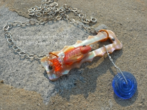 Goldfish Lampwork Statement Necklace