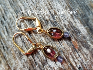 Faceted Amethyst and Iolite earrings