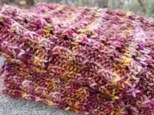 Deep Rose, Pink and Gold Cowl
