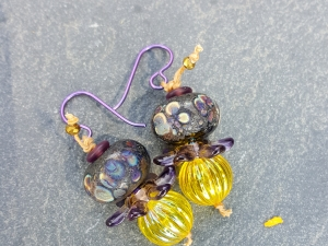 Wildflowers -Lampwork Earrings