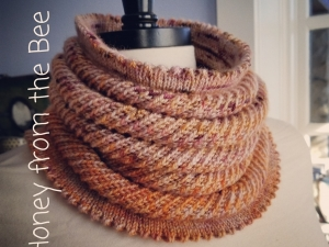 Pumpkin and Grape Lace cowl