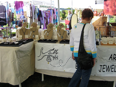 Honey from the Bee Artisan jewelry booth