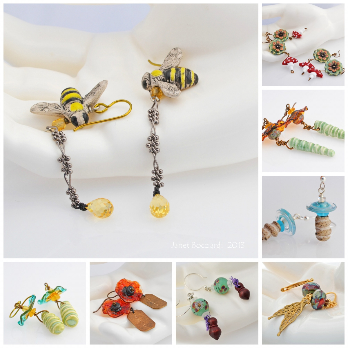 Artisan Earrings 2013 by Honey from the Bee