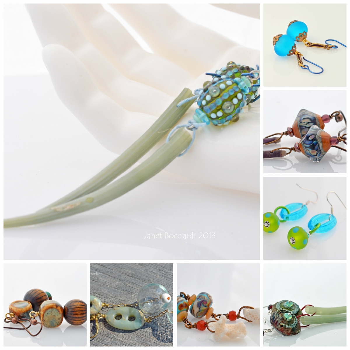 Ocean inspired earrings 2013 by Honey from the Bee