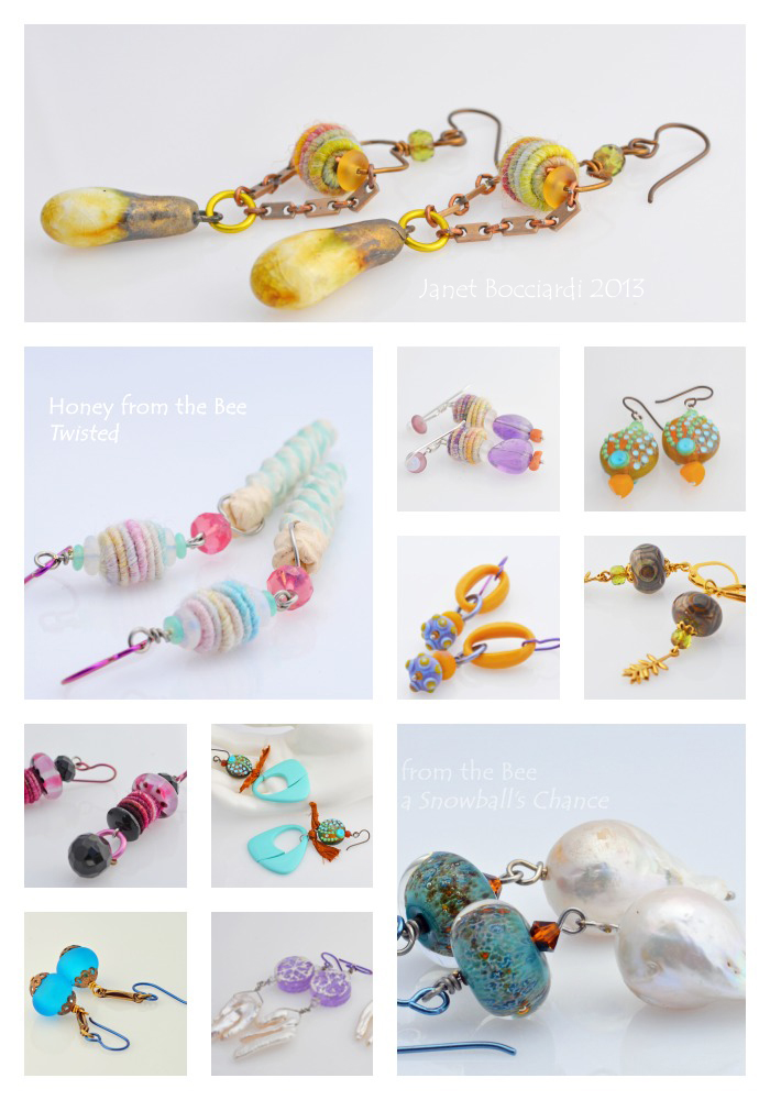 Boho style earrings 2013 by Honey from the Bee