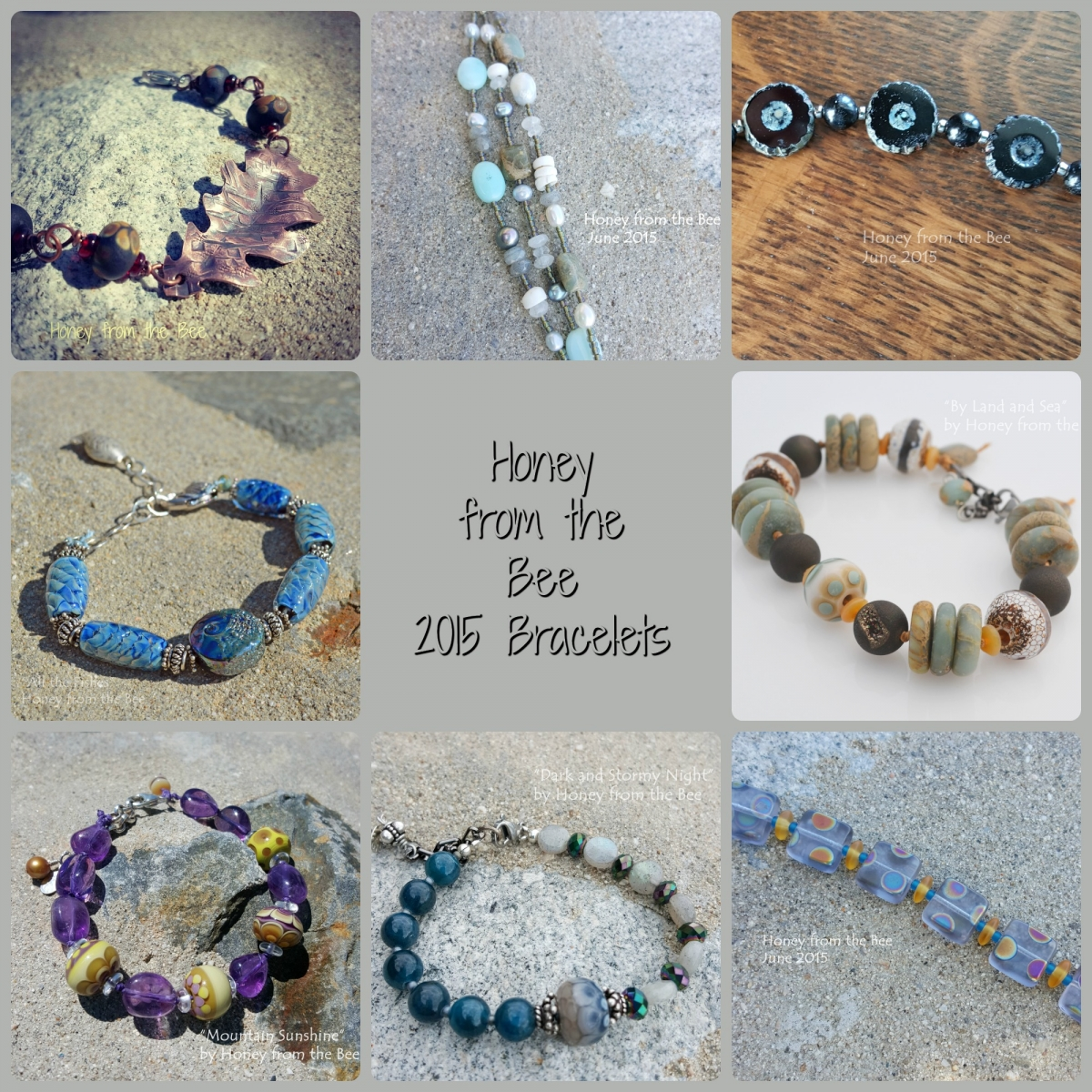Artisan bracelets by Honey from the Bee
