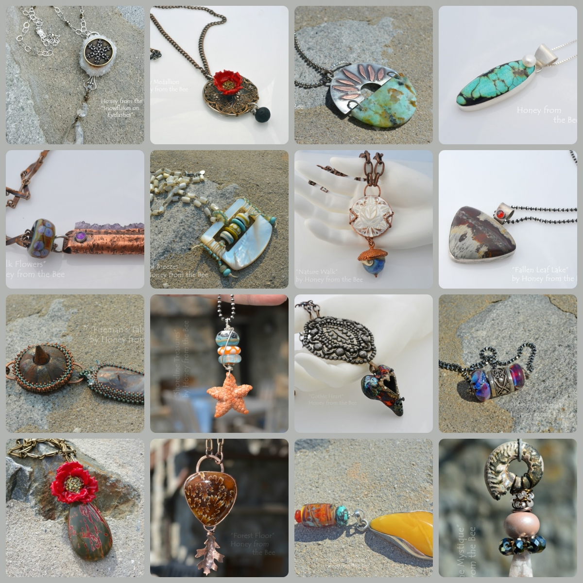 Artisan Pendants by Honey from the Bee
