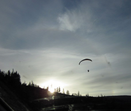 Ultralight souring in Washington skies