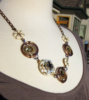 Bicycle Artisan Necklace by Honey from the Bee